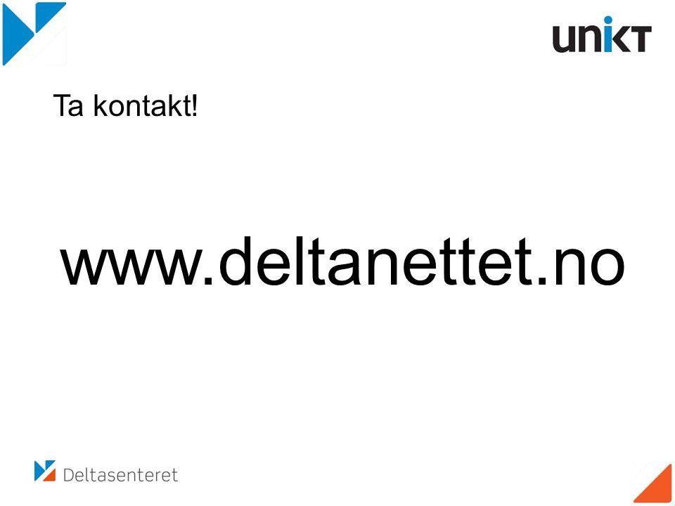 www.deltanettet.no Ta kontakt!