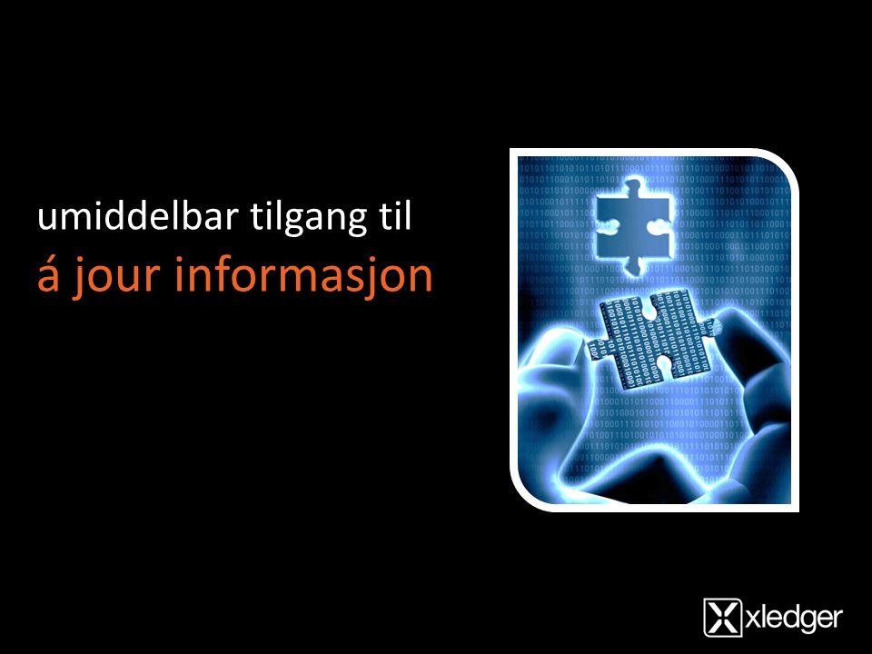 umiddelbar tilgang til á jour informasjon