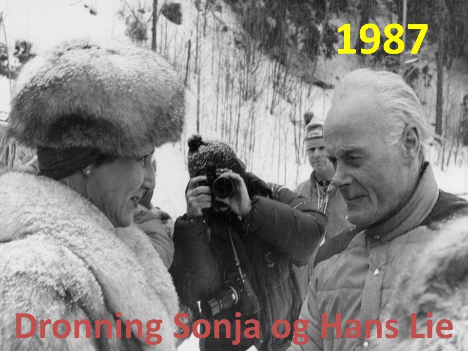 1987 Dronning Sonja og Hans Lie