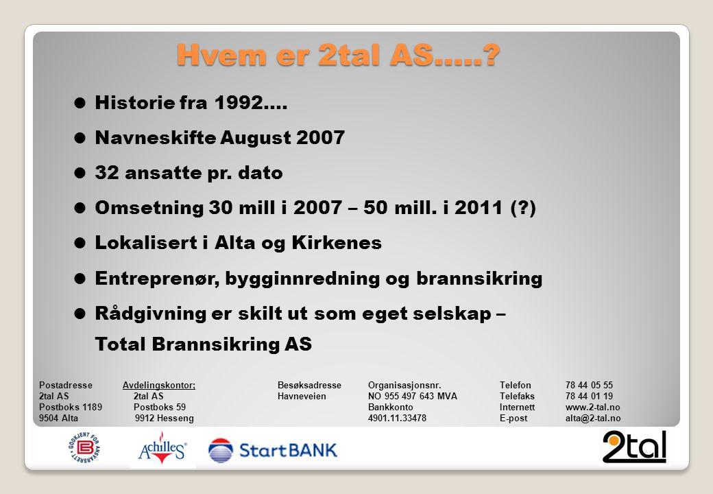  Historie fra 1992….  Navneskifte August 2007  32 ansatte pr.