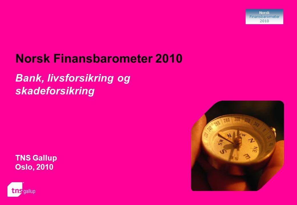 12 Norsk Finansbarometer 2010 Bruk av banker Den voksne befolkningen benytter i gjennomsnitt 2 banker hver.