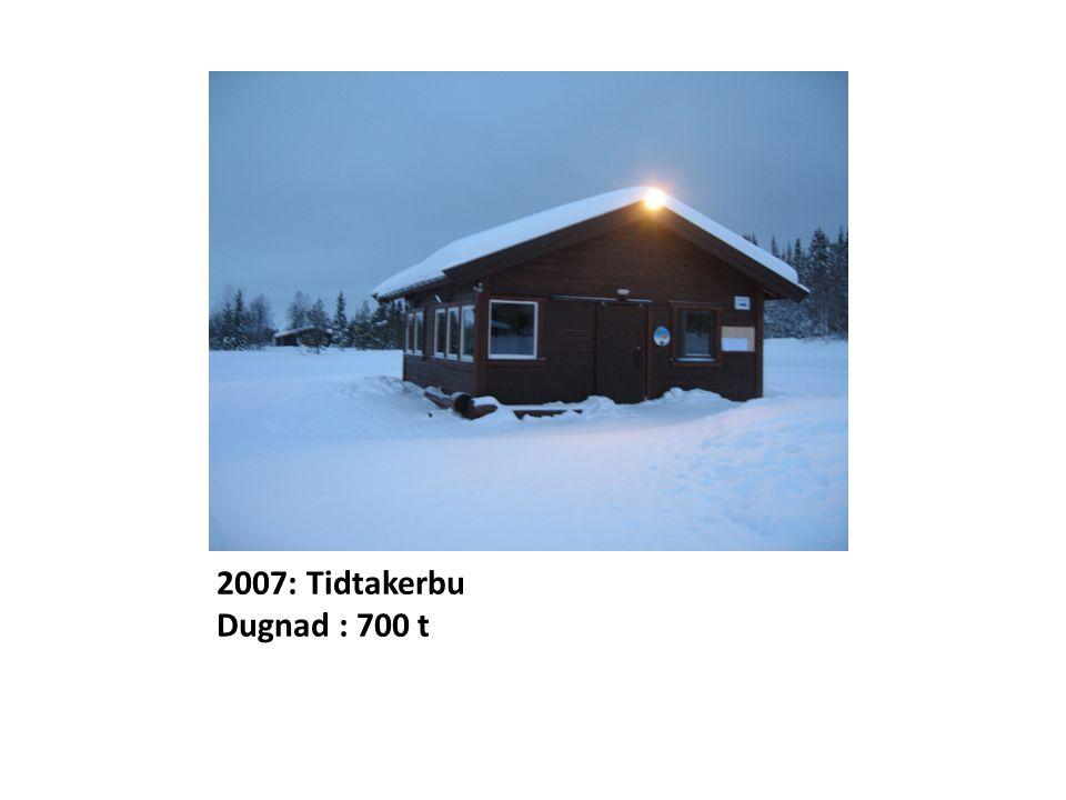 2007: Tidtakerbu Dugnad : 700 t