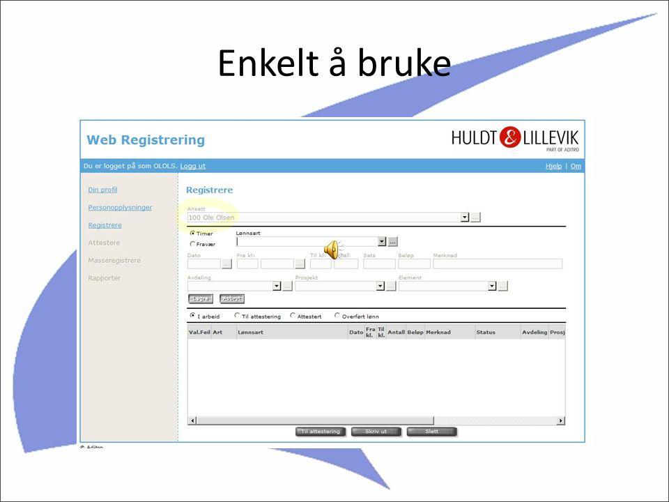 Huldt & Lillevik WEB registrering Jens Erik Mjølnerød: Vi hjelper dere med løsninger i forbindelse med lønn og personal.