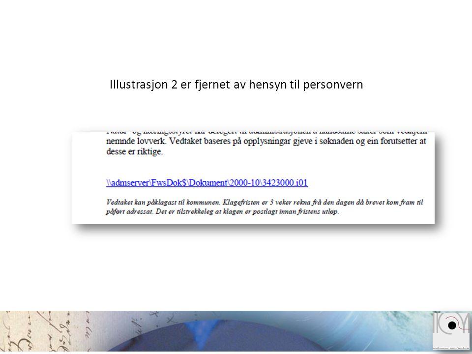 Illustrasjon 2 er fjernet av hensyn til personvern