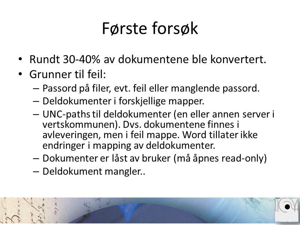 Forenklet arbeidsflyt for Forum Winsak dokumenter Åpne fil Finn passord i databasen Passord.