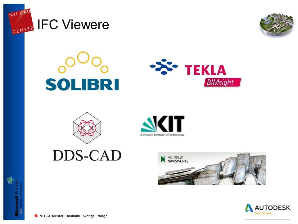 NTI CADcenter · Danmark · Sverige · Norge IFC Viewere
