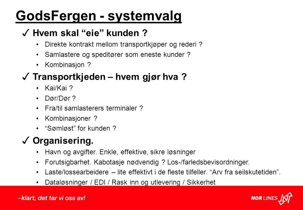 GodsFergen - systemvalg ✓ Hvem skal eie kunden .