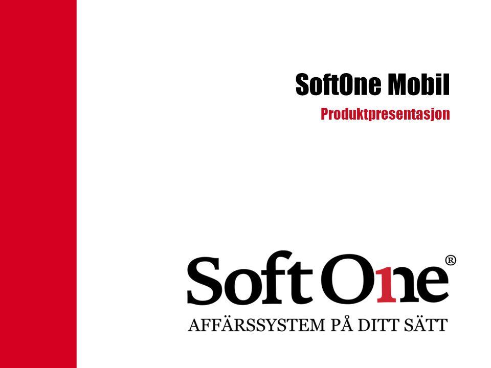 SoftOne Mobil Produktpresentasjon