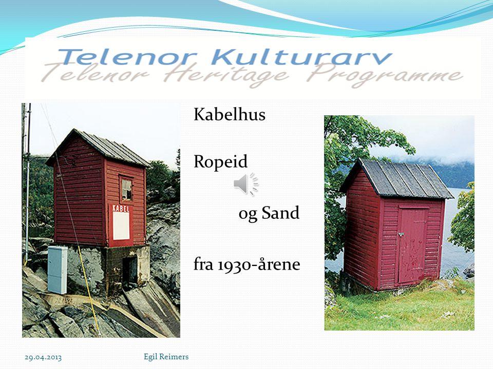 Kulleseid Telegrafstation Bømlo Bygget i 1857 Rehabilitert i 1997 29.04.2013Egil Reimers
