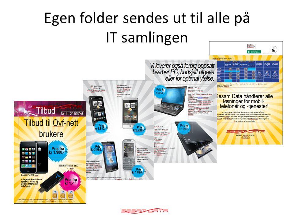 Egen folder sendes ut til alle på IT samlingen