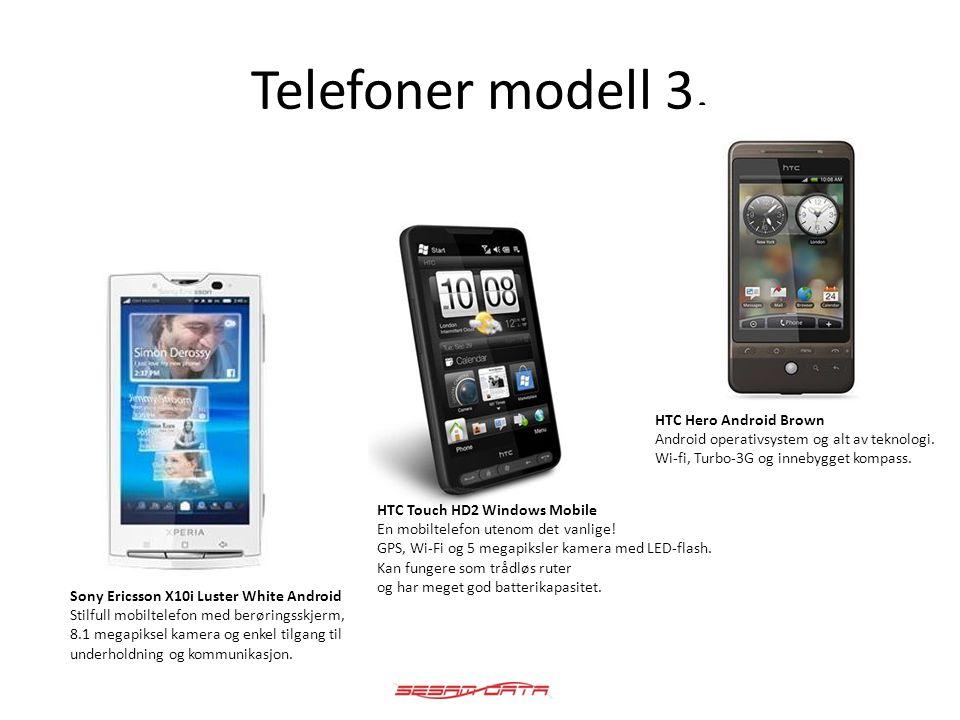 Telefoner modell 3. Sony Ericsson X10i Luster White Android Stilfull mobiltelefon med berøringsskjerm, 8.1 megapiksel kamera og enkel tilgang til unde