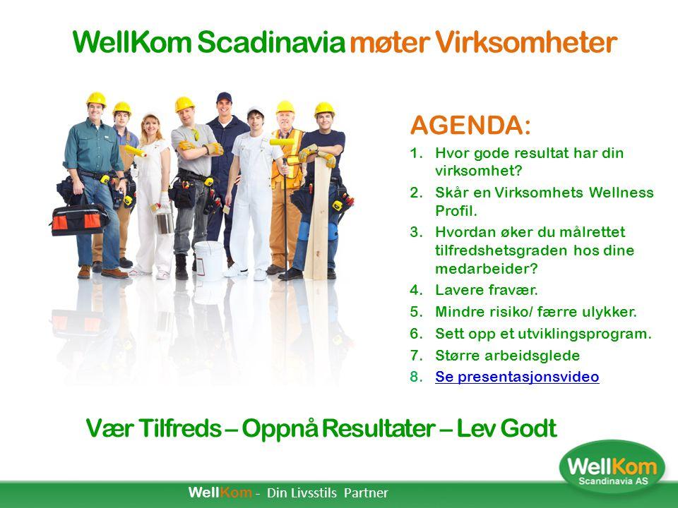 Wellness konsept  Hele mennesket Wellness Konseptet kartlegger og setter fokus på hele menneskets situasjon som individ, som del av et team/avdeling, som del av virksomheten og som del av samfunnet.