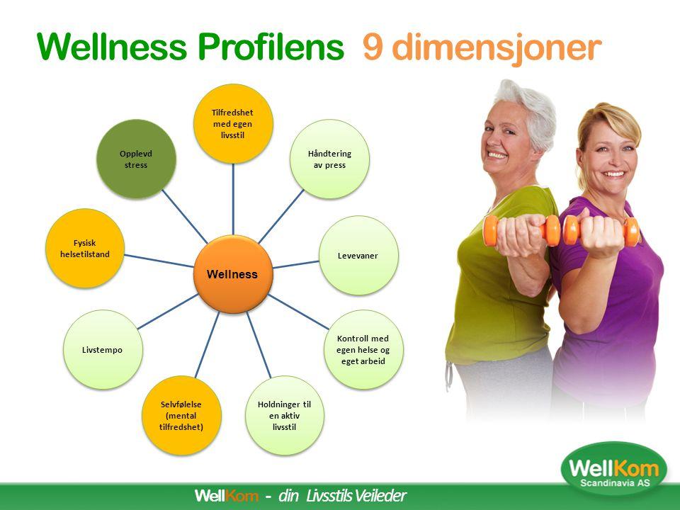 Wellness Profilens 9 dimensjoner WellKom - din Livsstils Veileder