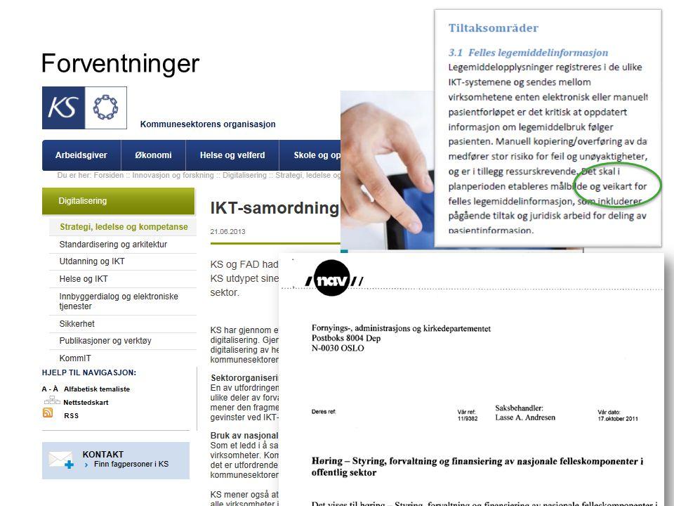 Forventninger Direktoratet for forvaltning og IKT