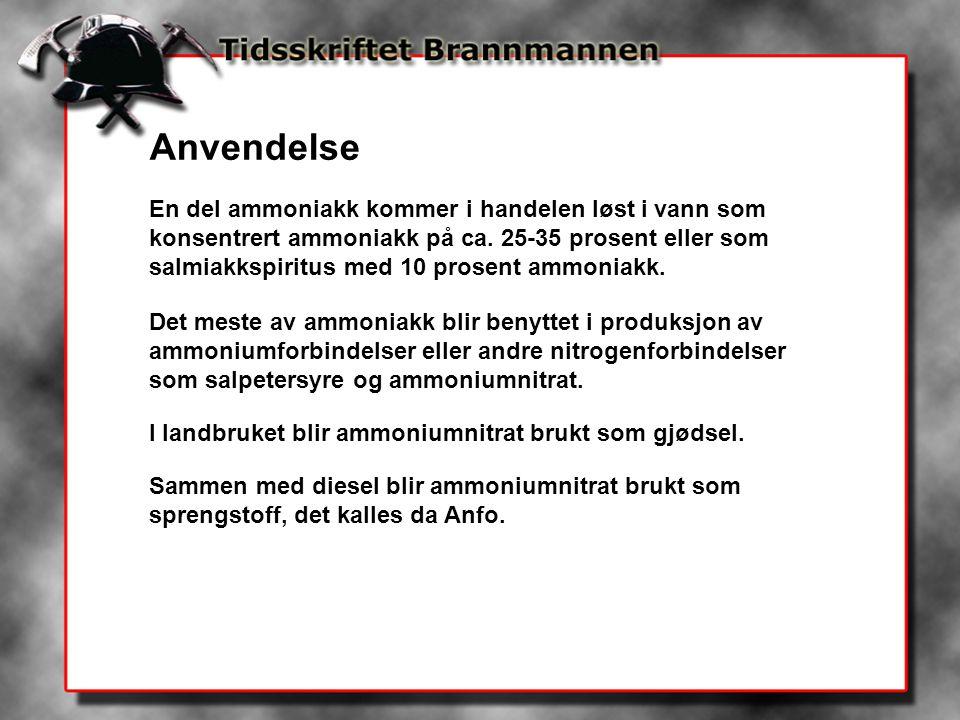 Store ressurser I april i år (1996) veltet to jernbanevogner i Sør-Sverige med 85 tonn ammoniakk etter en avsporing.