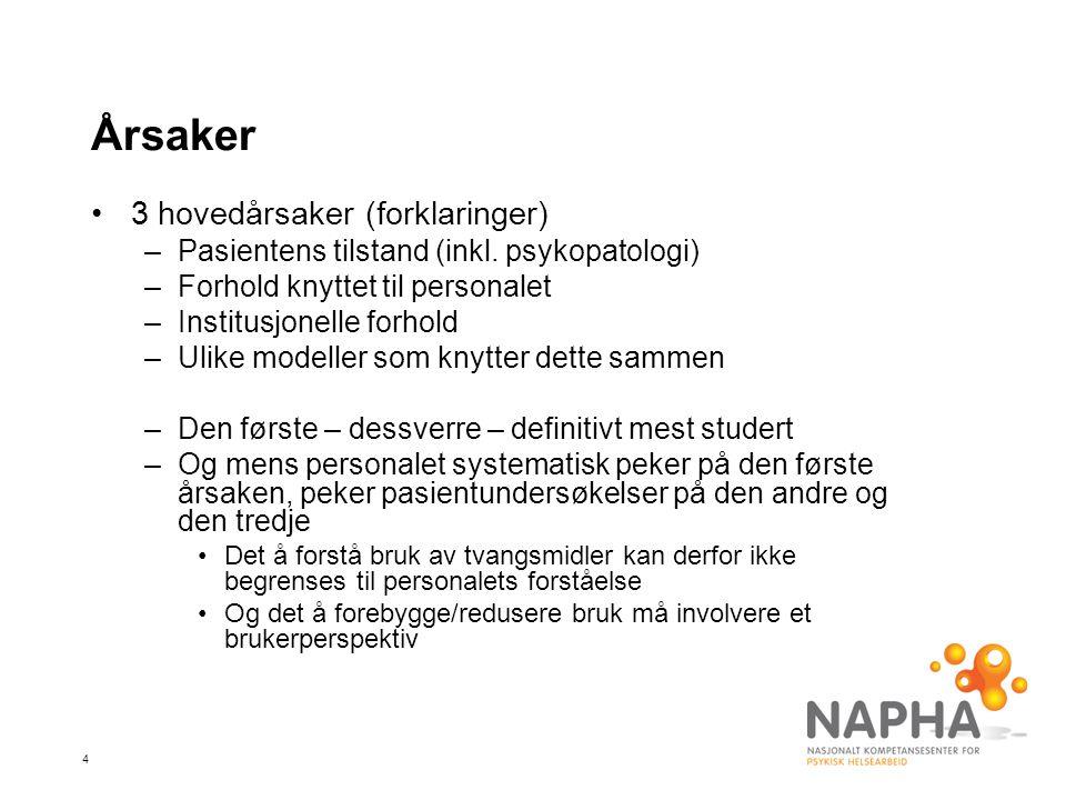 15 Forekomst i Norge – isolering (Høyer og Drange 1984/1987, Hatling et al.