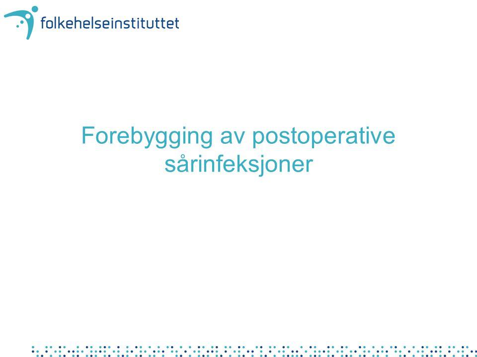 Forebygging av postoperative sårinfeksjoner