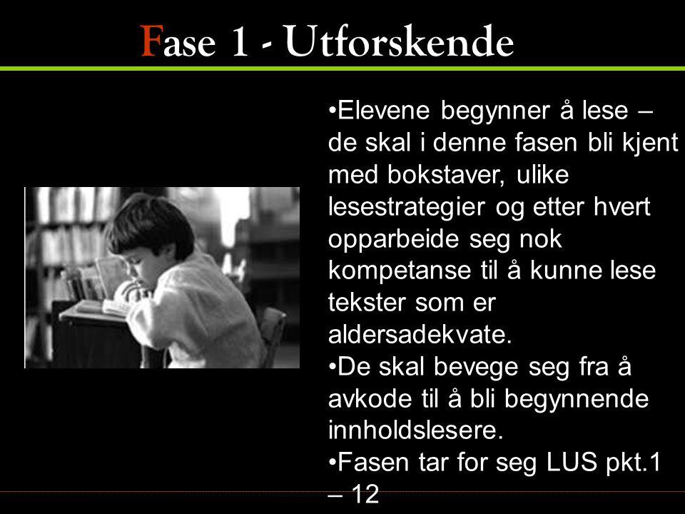 LUS 11 Tar seg fram i teksten, stotrer, ettersom eleven vil forstå teksten.