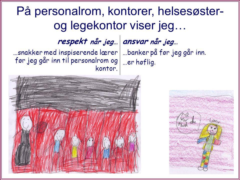 I skolehagen viser jeg… respekt når jeg… ansvar når jeg… …går rett bort til samlingsstedet.