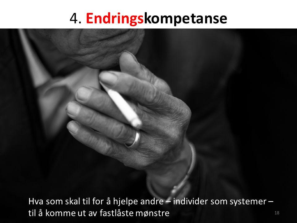 4. Endringskompetanse Hva som skal til for å hjelpe andre – individer som systemer – til å komme ut av fastlåste mønstre 18
