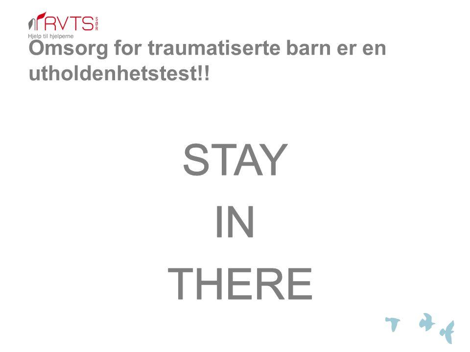 Omsorg for traumatiserte barn er en utholdenhetstest!!