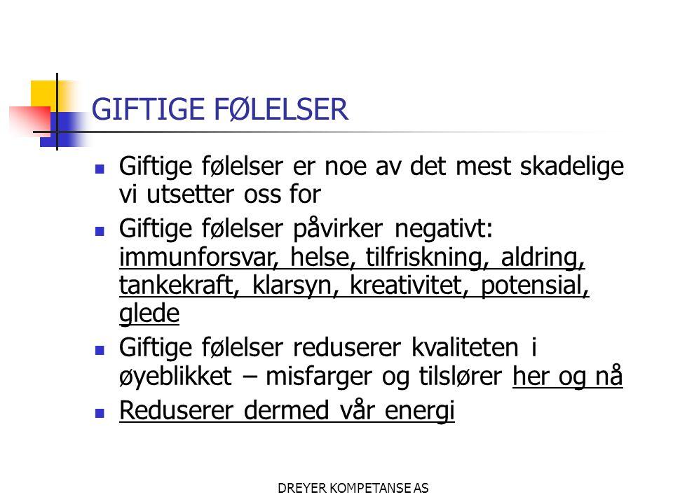 DREYER KOMPETANSE AS GIFTIGE FØLELSER..