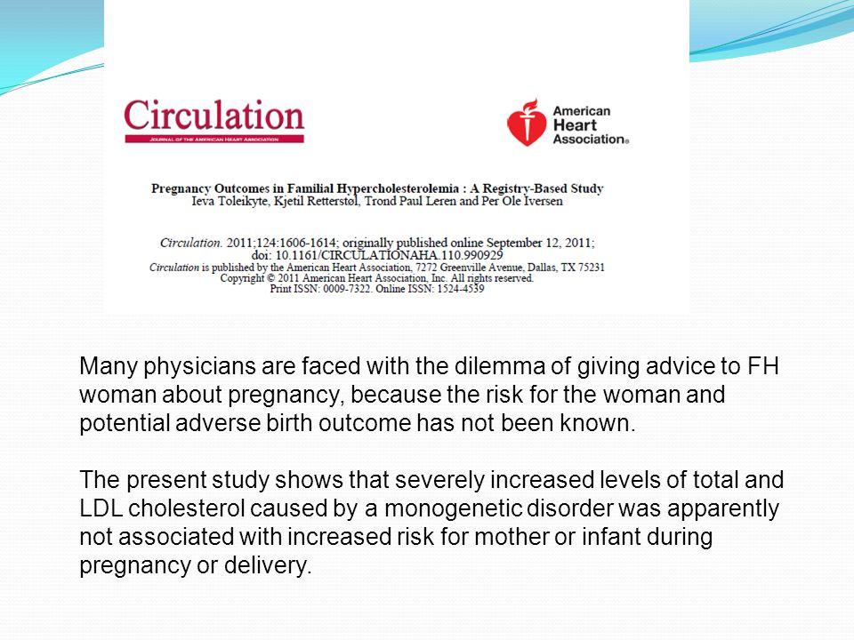 Konklusjon  FH kvinner sammenlignet med kvinner fra generell populasjon  Har ikke høyere risiko for uheldig svangerskapsutfall  Føder like mange barn  Alder for første fødsel er ikke annerledes  Behov for videre studier  Risiko for kardiovaskulære utfall under og etter FH svangerskap  Effekt av intrauterint miljø under FH svangerskap for barnets helse senere i livet 39