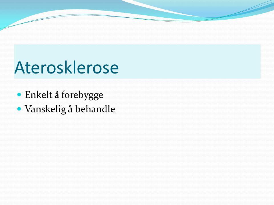 Aterosklerose - en helt normal aldringsprosess