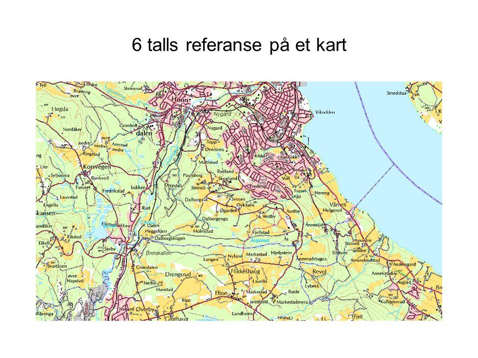 6 talls referanse på et kart
