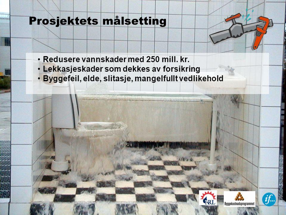 •Redusere vannskader med 250 mill.kr.