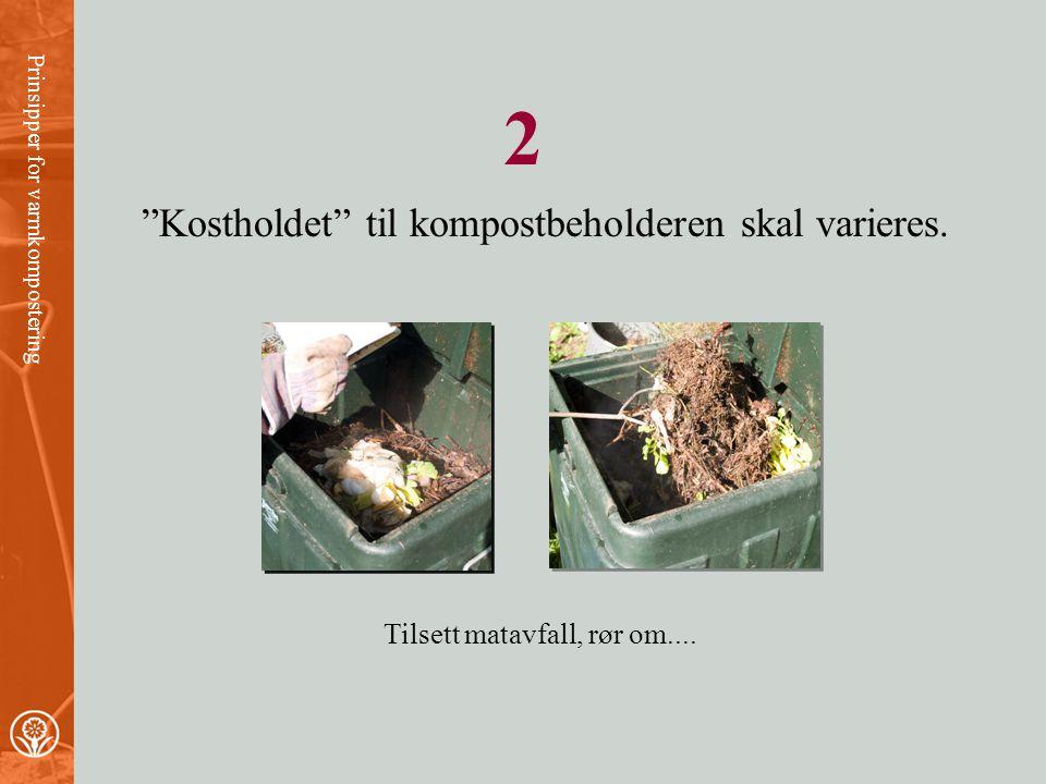 •Under kompostering utvikles varme. •Nedbrytningshastigheten stiger når temperaturen øker. •Ved høy nok temperatur drepes uheldige mikroorganismer, ug