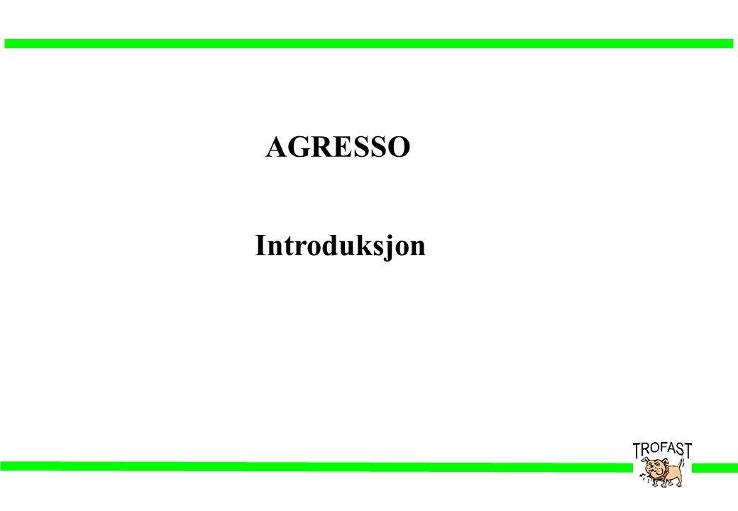 Agresso Du kan starte opp AGRESSO på en av følgende måter: •Dobbeltklikke med venstre musknapp på AGRESSO-ikonet i Programbehandling.