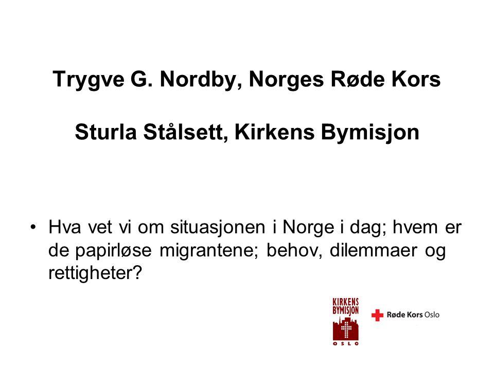 Per Kristian Aale Journalist Aftenposten •Historiene bak; noen historier om papirløse migranter; hvordan lever de og hvilke problemer møter de.