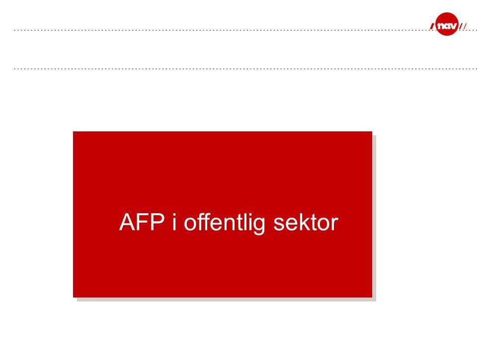 AFP i offentlig sektor