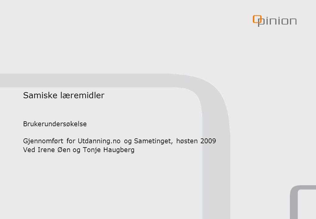 2 Formål og bakgrunn Sametinget og Utdanning.no samarbeider i et forprosjekt som utreder muligheten for å utvikle en samisk læremiddeltjeneste, med blant annet nettportal som samler samiske læreressurser.