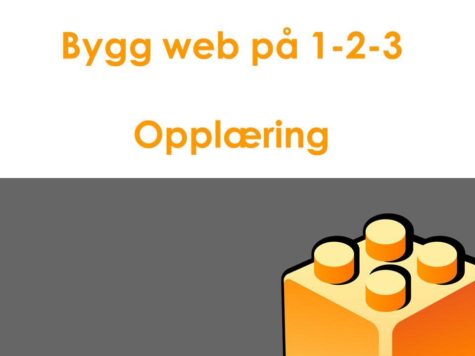 Presentasjon Idium AS Bygg web på 1-2-3 Opplæring