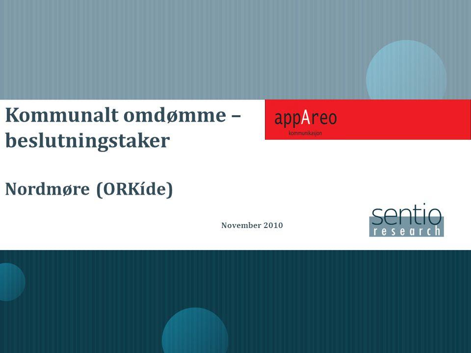 Kommunalt omdømme – beslutningstaker Nordmøre (ORKíde) November 2010