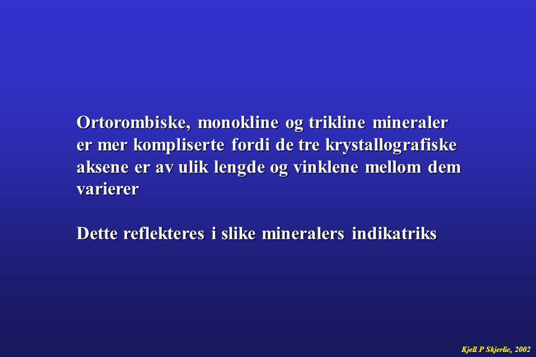 Noen mineraler som f.eks biotitt kan ha så kraftig pleokroisme at den forstyrrer interferensfargene.
