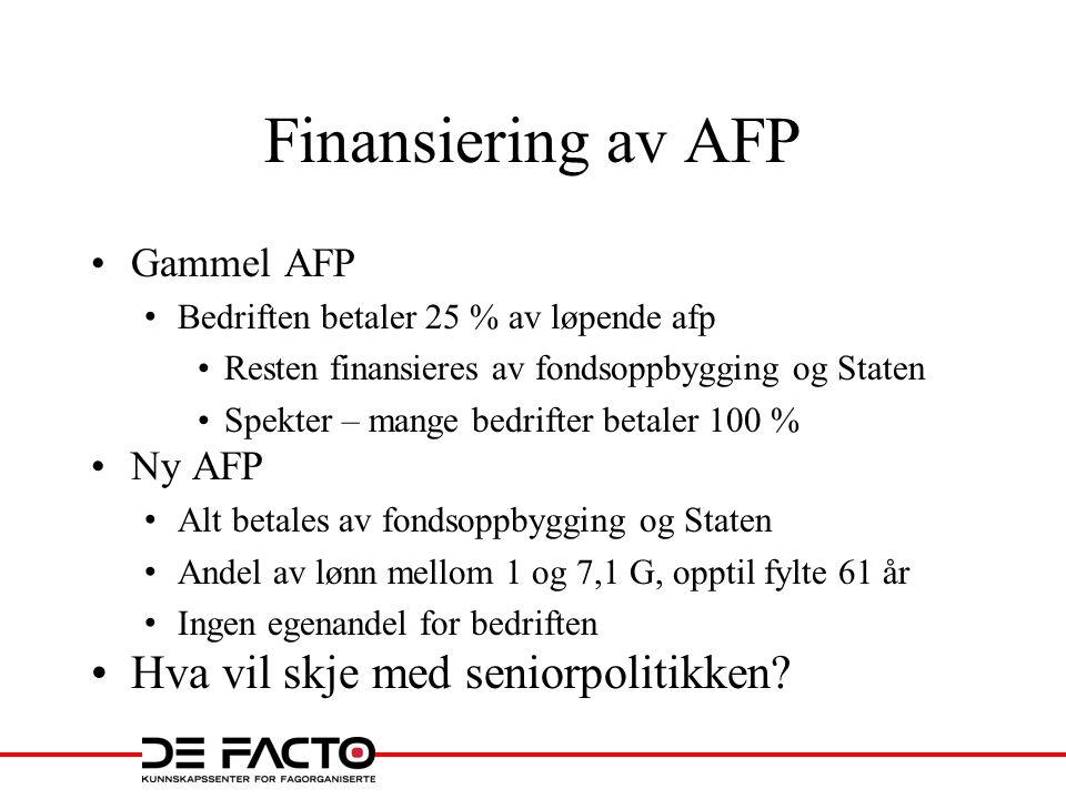 Kannibaliseres pensjonen - blir AFP/tjenestepensjon spist opp.