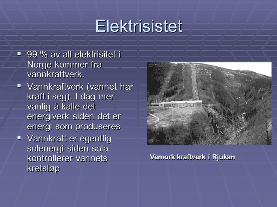  Batterier -energiverk i miniatyr -energiverk i miniatyr  Strømmen overfører energi fra batteriene til lyspæra  Den elektriske strømmen = energibærer strømmen = energibærer  Batterier og lyspærer har to tilkoblingspunkter  For at pæra skal lyse, må strømkretsen være sammenhengende og gå i ring.