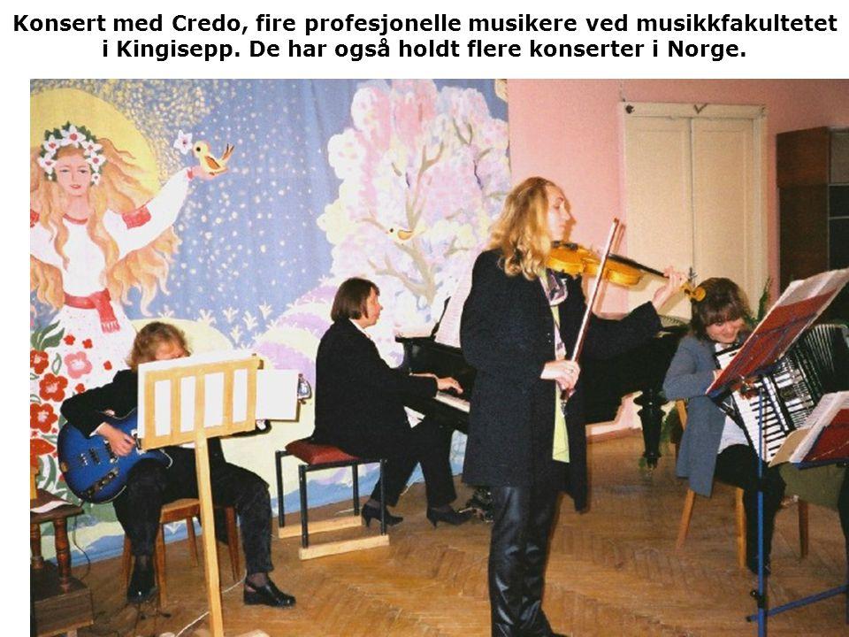 Konsert med Credo, fire profesjonelle musikere ved musikkfakultetet i Kingisepp. De har også holdt flere konserter i Norge.