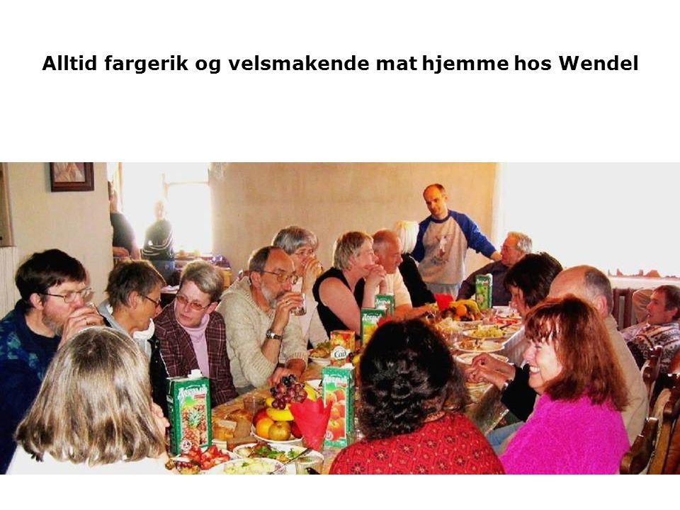 Alltid fargerik og velsmakende mat hjemme hos Wendel