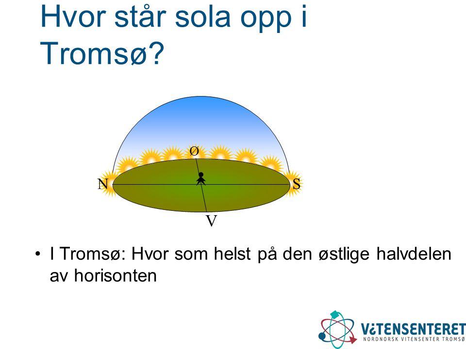 Hvor står sola opp i Tromsø.