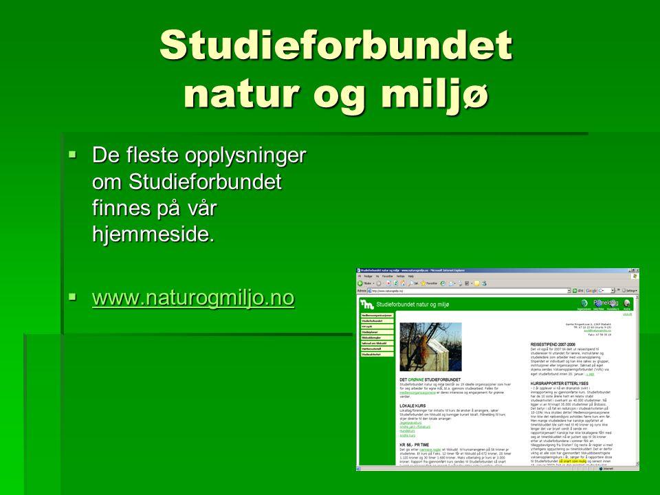 Regler for studiearbeid Tilskuddsregler  Arrangør  Kunngjøring  Tilskudd pr.