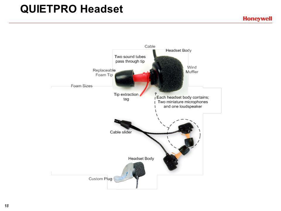 17 QP100Ex LED LED – Light Emiting Diodes •Dobbel Grønn blinkende: - Aktivitet fullført - Bekrefter menyvalg •Gul blinkende: - Pågående tettekontroll