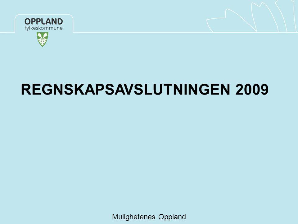 Mulighetenes Oppland REGNSKAPSAVSLUTNINGEN 2009