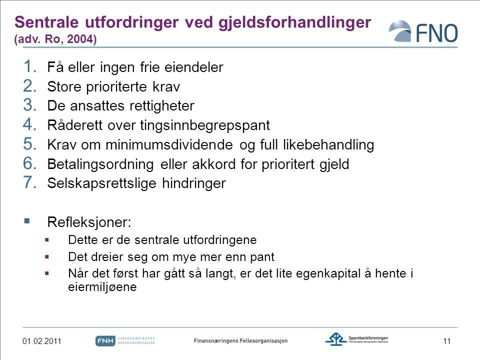 Sentrale utfordringer ved gjeldsforhandlinger (adv.