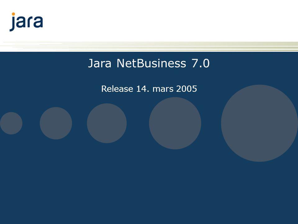 Innhold • Ny ansiktsløfting for Jara NetBusiness – oppgradering til Siebel 7.7 • Ny web-funksjonalitet i modulene • Ny B2B funksjonalitet