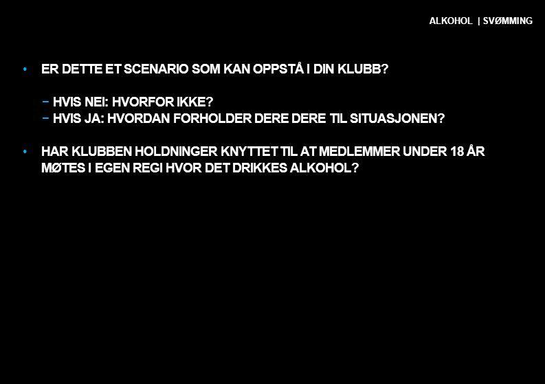 SITUASJON 3 FORELDRE OG FORESATTE PÅ TRENINGSLEIR ALKOHOL | SVØMMING