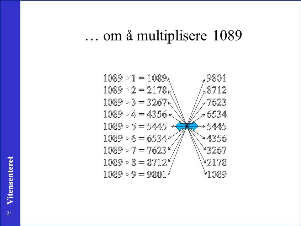 21 Vitensenteret … om å multiplisere 1089